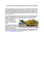 CST Cone Crusher Product Announcement